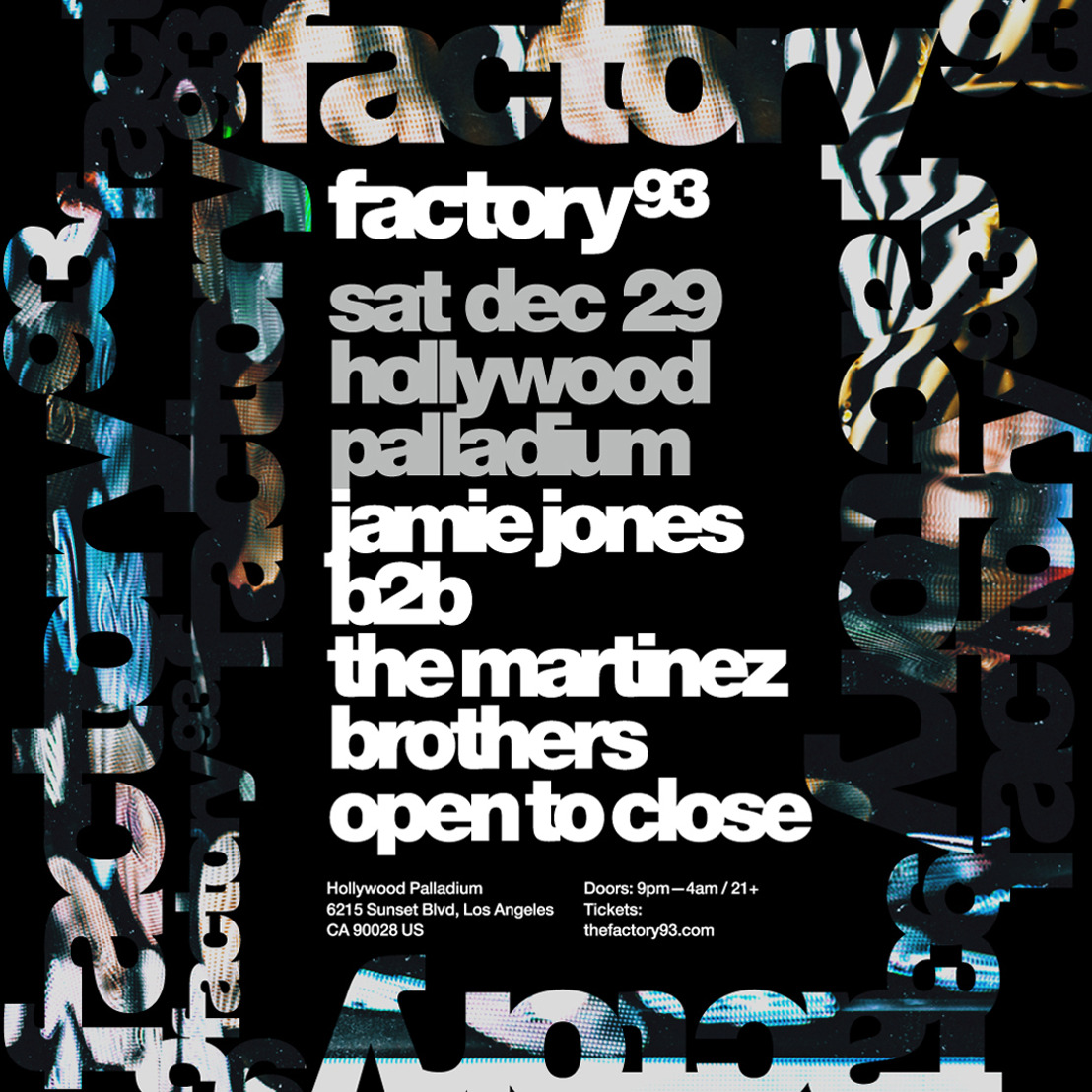 Factory 93 Presents Jamie Jones B2B The Martinez Bros Seven-Hour, Open-To-Close Set
