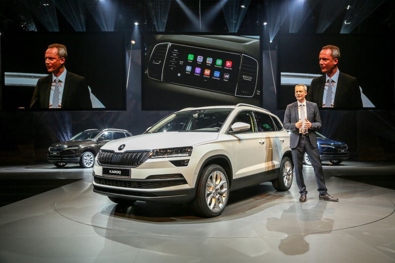 n 18 May 2017, Member of the Board of Management for Technical Development Christian Strube presented the new ŠKODA KAROQ compact SUV.