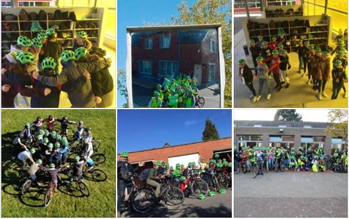 Oost-Vlaanderen promoot met #teGekVeiligOpJeBek fietshelmen bij jongeren