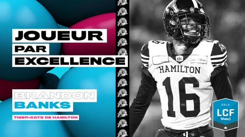 Brandon Banks des Tiger-Cats de Hamilton est nommé joueur par excellence de la LCF