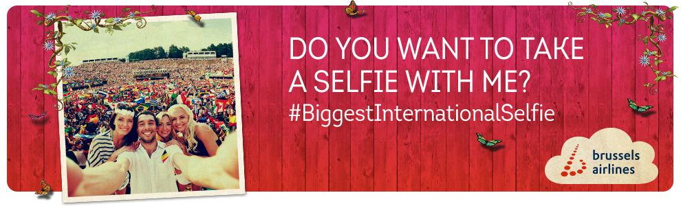#BiggestInternationalSelfie challenge