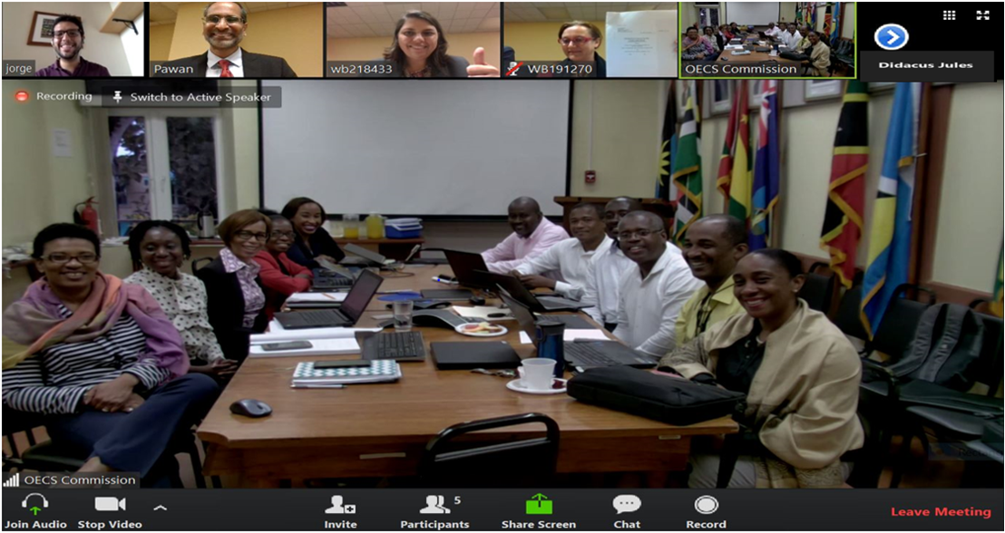 Virtual CROP Negotiation Meeting with OECS Commission and World Bank teams on July 12, 2017.