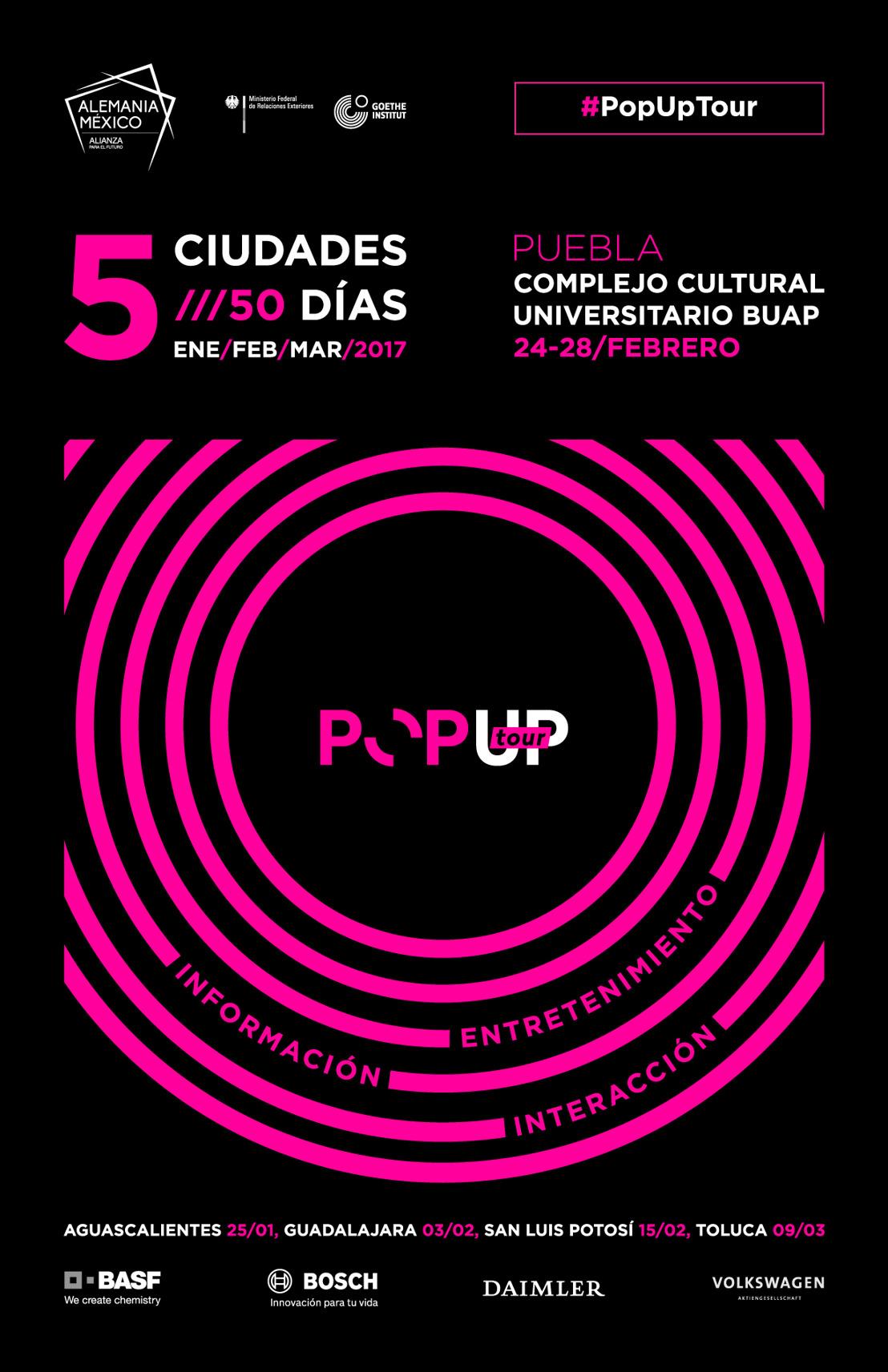 El PopUp Tour llega a Puebla
