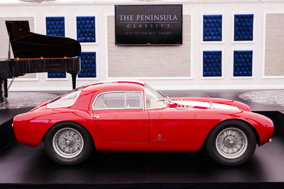THE PENINSULA CLASSICS BEST OF THE BEST AWARD PARA 2016 FUE ENTREGADO AL AUTOMÓVIL 1954 MASERATI A6GCS/53 BERLINETTA DE PININ FARINA