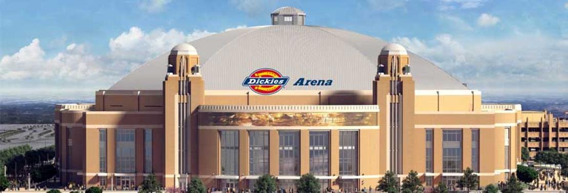 Arena Fort Worth y Dickies anuncian trato de obtención de derechos para nombrar la nueva arena.