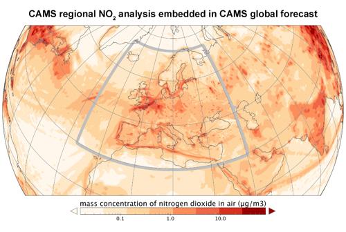 Los datos de Copernicus llevan la previsión de la contaminación a su teléfono móvil