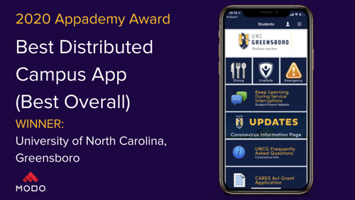 """Modo Announces the Best of the Best 2020 Campus App """"Appademy Award"""" Winners"""