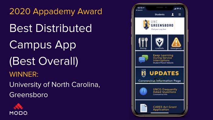 "Modo Announces the Best of the Best 2020 Campus App ""Appademy Award"" Winners"
