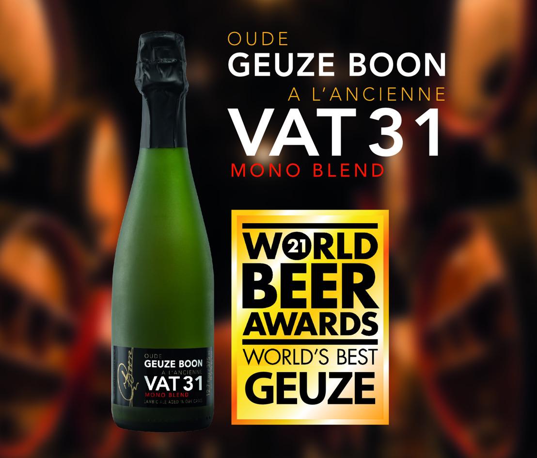 """La Geuze Boon à l'Ancienne VAT 31 primée """"meilleure gueuze du monde"""""""