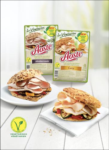 Aoste lanceert 5 soorten 100% vegetarisch broodbeleg: 'Le Végétarien'
