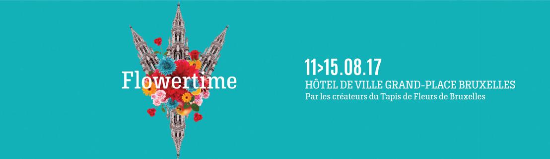 Flowertime 2017 : la magie estivale des fleurs en plein cœur de Bruxelles
