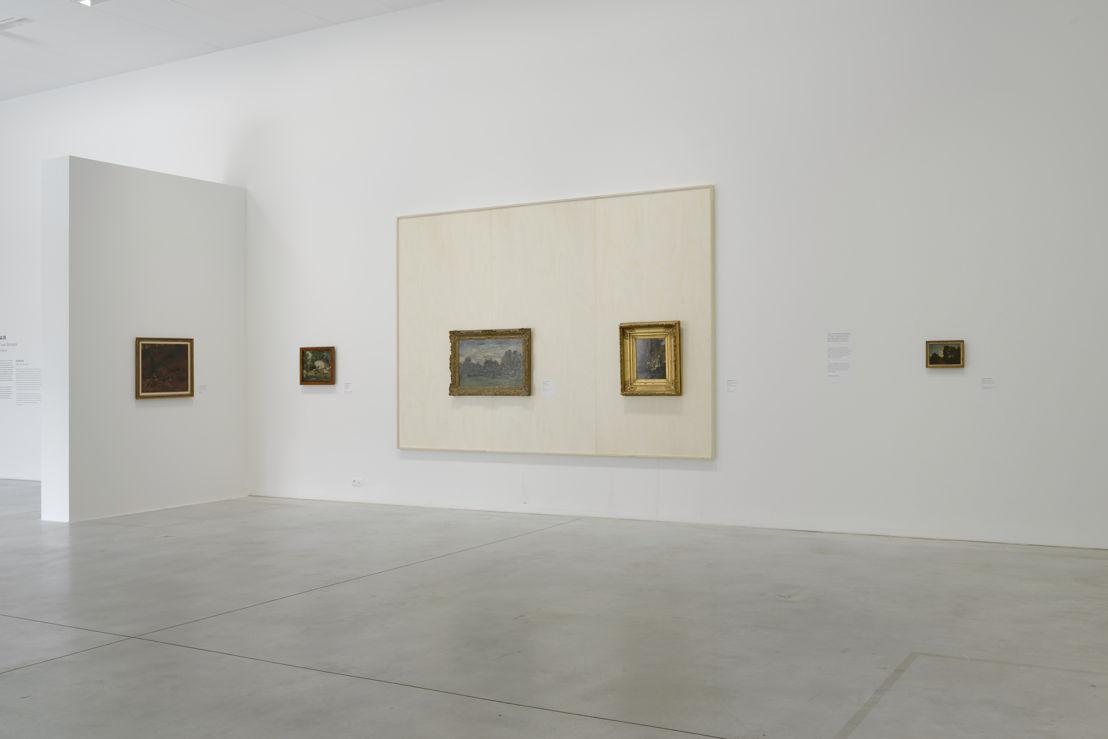Vue de l'exposition - deux oeuvres  de l'école de Barbizon (c) Isabelle Arthuis