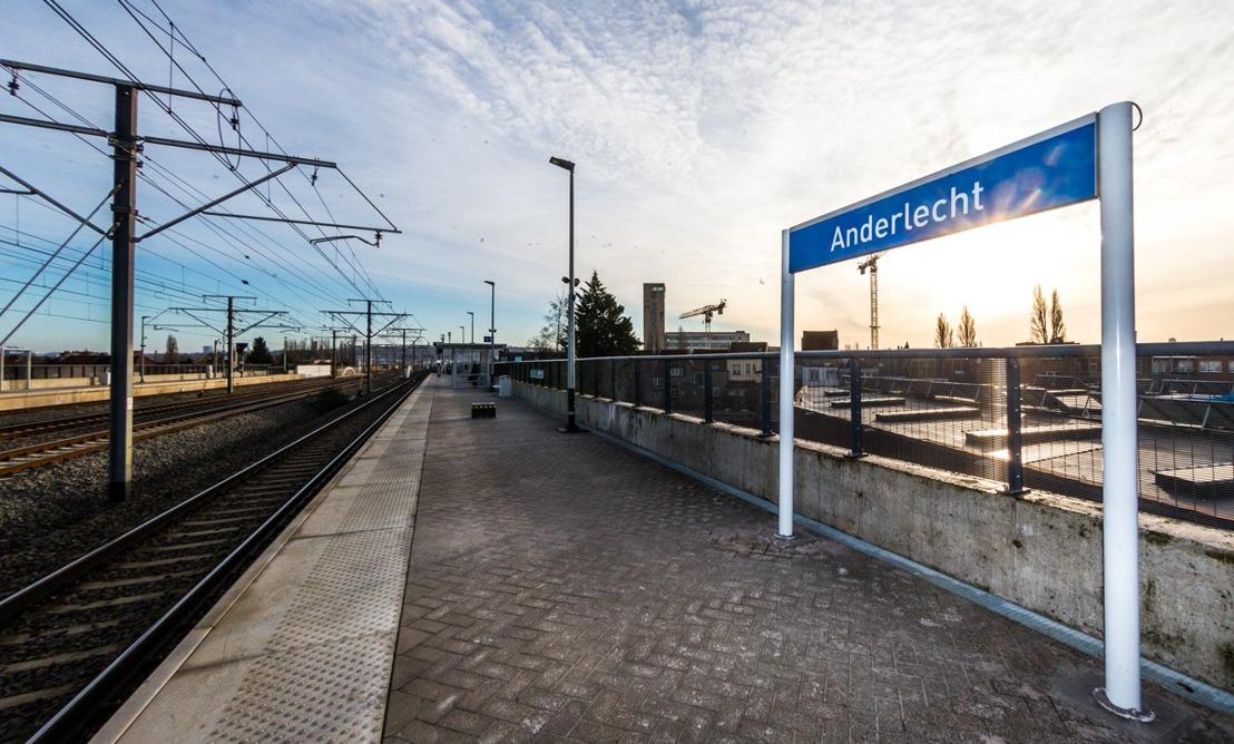 Opening van het station Anderlecht, het 35e station in het Brussels Hoofdstedelijk Gewest