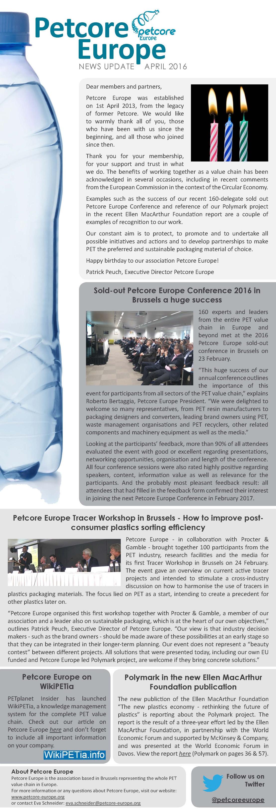 Petcore Europe News Update - April 2016
