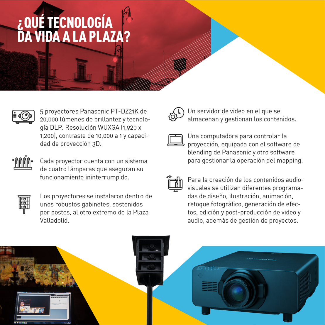 Tecnología Panasonic para mapping en Morelia
