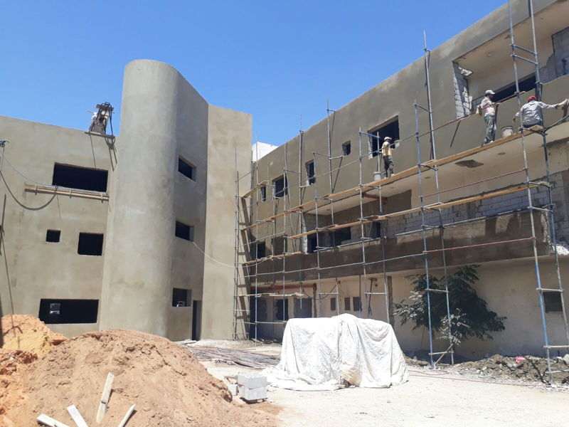 Construction of Bar Elias hospital in Lebanon (August 2017). The hospital is planned to open in mid-2018. © Laetitia Di Placido