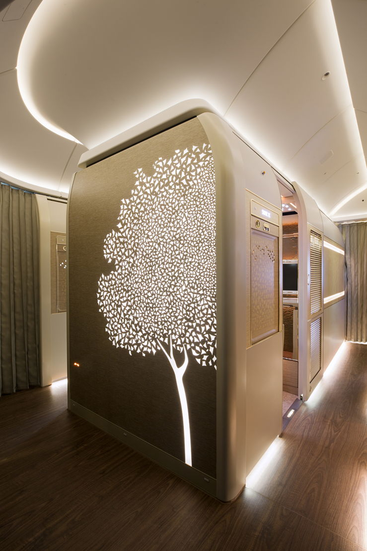 The Ghaf Tree motif in the new Boeing 777 First Class Suite