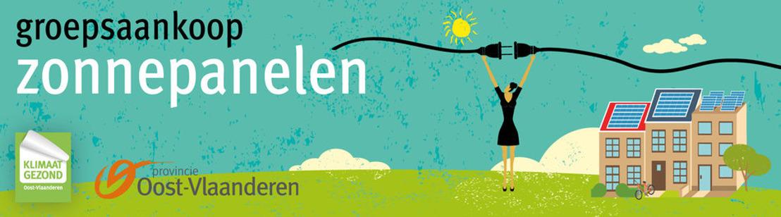 Tweede groepsaankoop zonnepanelen van de Provincie Oost-Vlaanderen van start