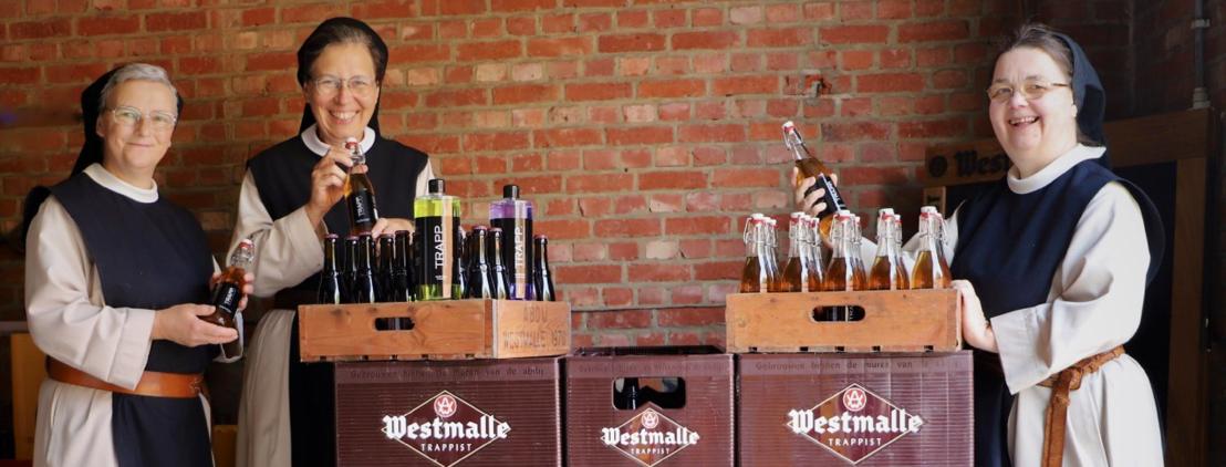 De trappistinnen van Brecht ontwikkelden een complete verzorgingslijn met Westmalle Dubbel als ingrediënt