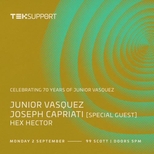 Junior Vasquez Celebrates 70th Birthday with Teksupport NYC on September 2