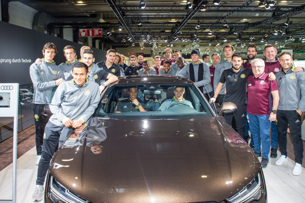 RSCA visiting the Audi stand at the Brussels Motor Show