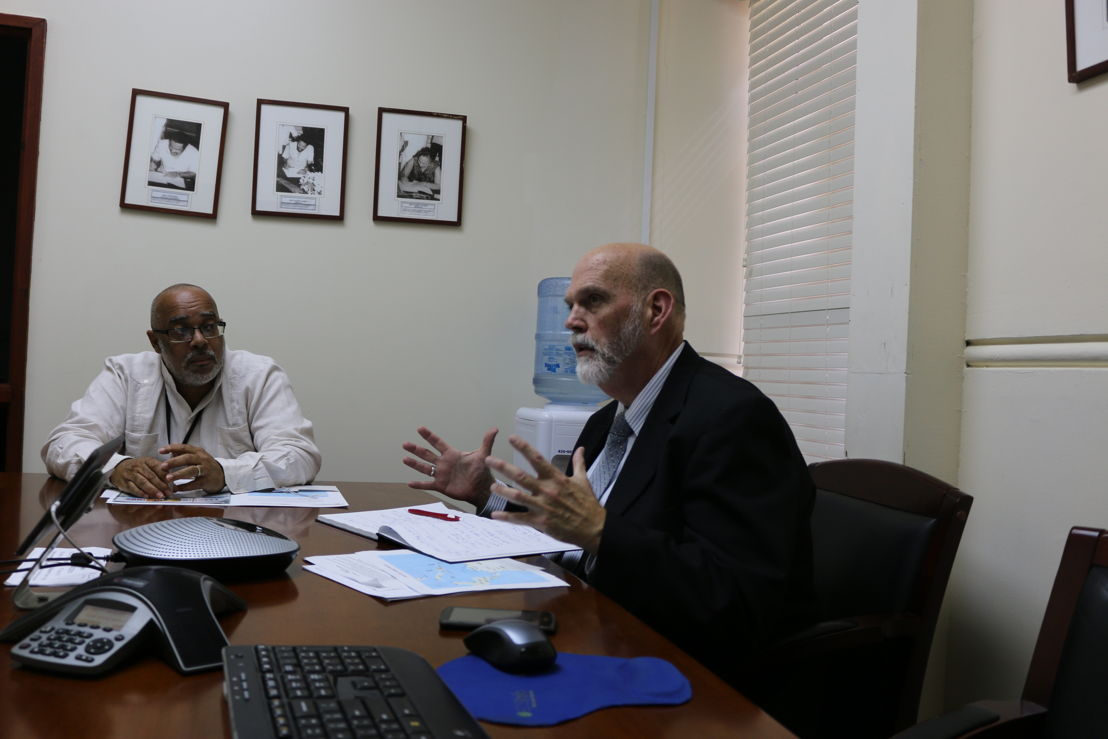 Director General of the OECS Commission Dr. Didacus Jules and Director of USDA/APHIS Safeguarding Initiative for the Greater Caribbean Dennis Martin.