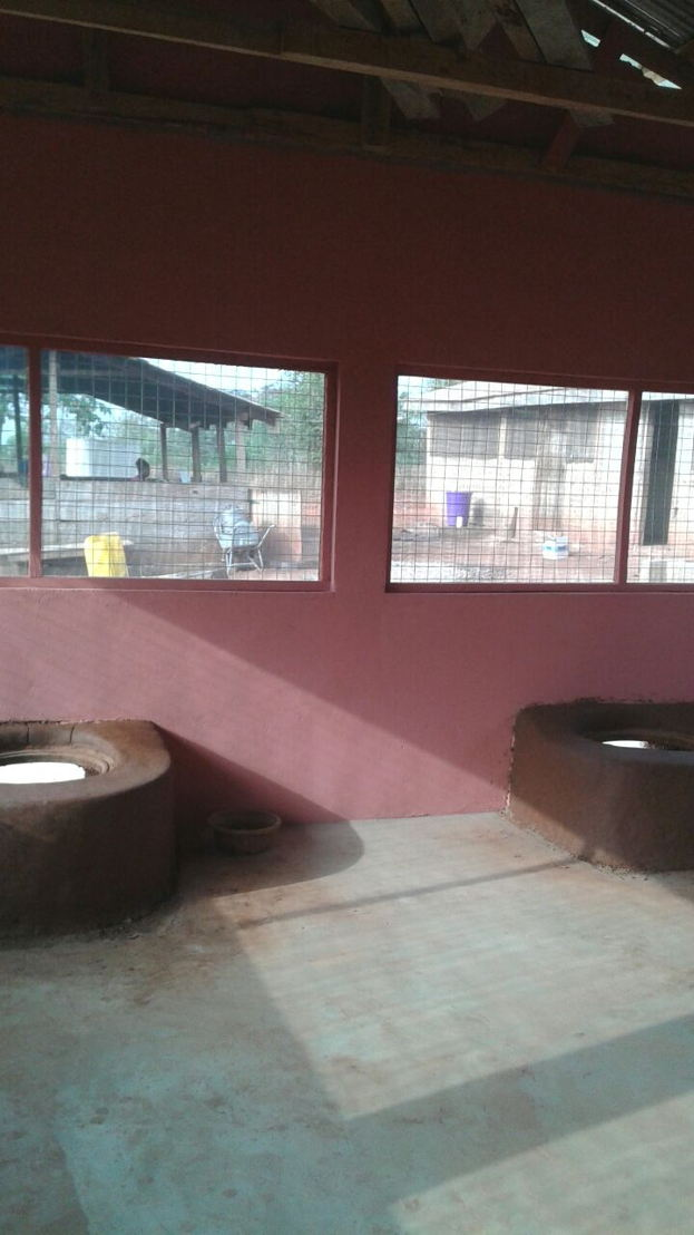 This is the new kitchen that was built at Booma School in rural Ghana, food was being prepared in an outdoor dirt-floored kitchen. The unsanitary conditions were making children sick. Changing Lives Together raised funds to build a new kitchen for the school which is now providing meals for the students.