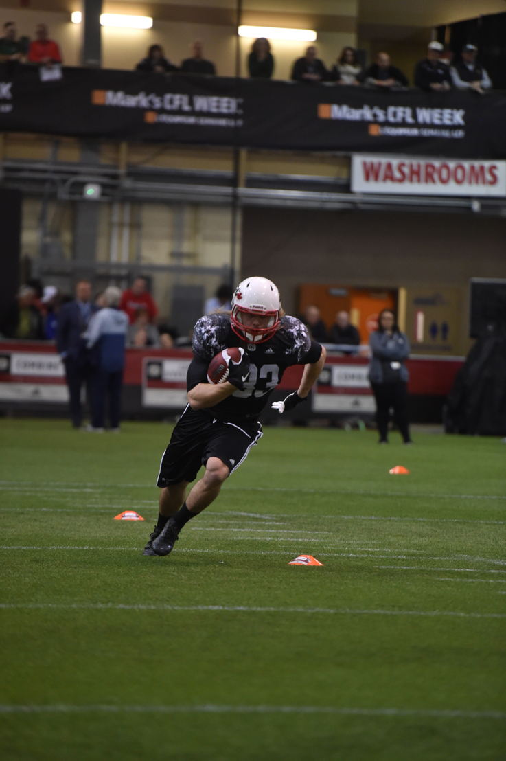 Ante Milanovic-Litre at the Western Regional Combine presented by adidas.  Photo credit: Matt Smith/CFL
