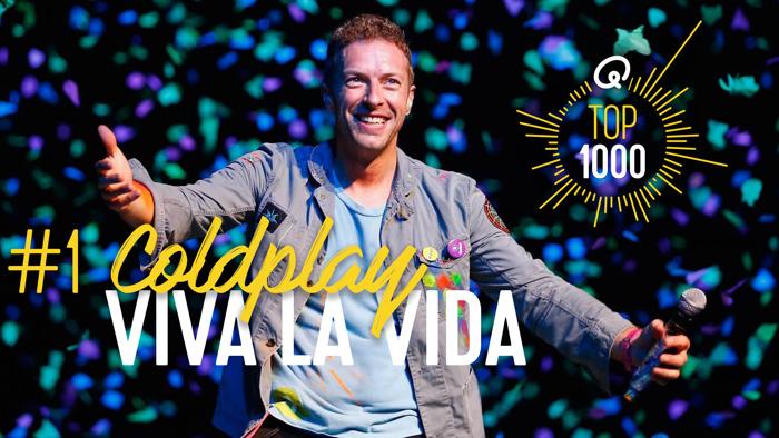 'Viva La Vida' van Coldplay bekroond tot beste hit aller tijden in Q-Top 1000