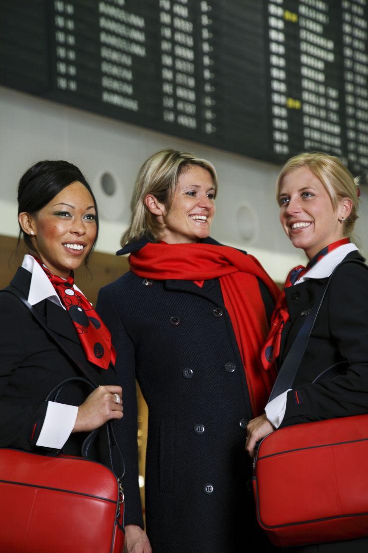 membres du cabin crew Brussels Airlines aujourd'hui