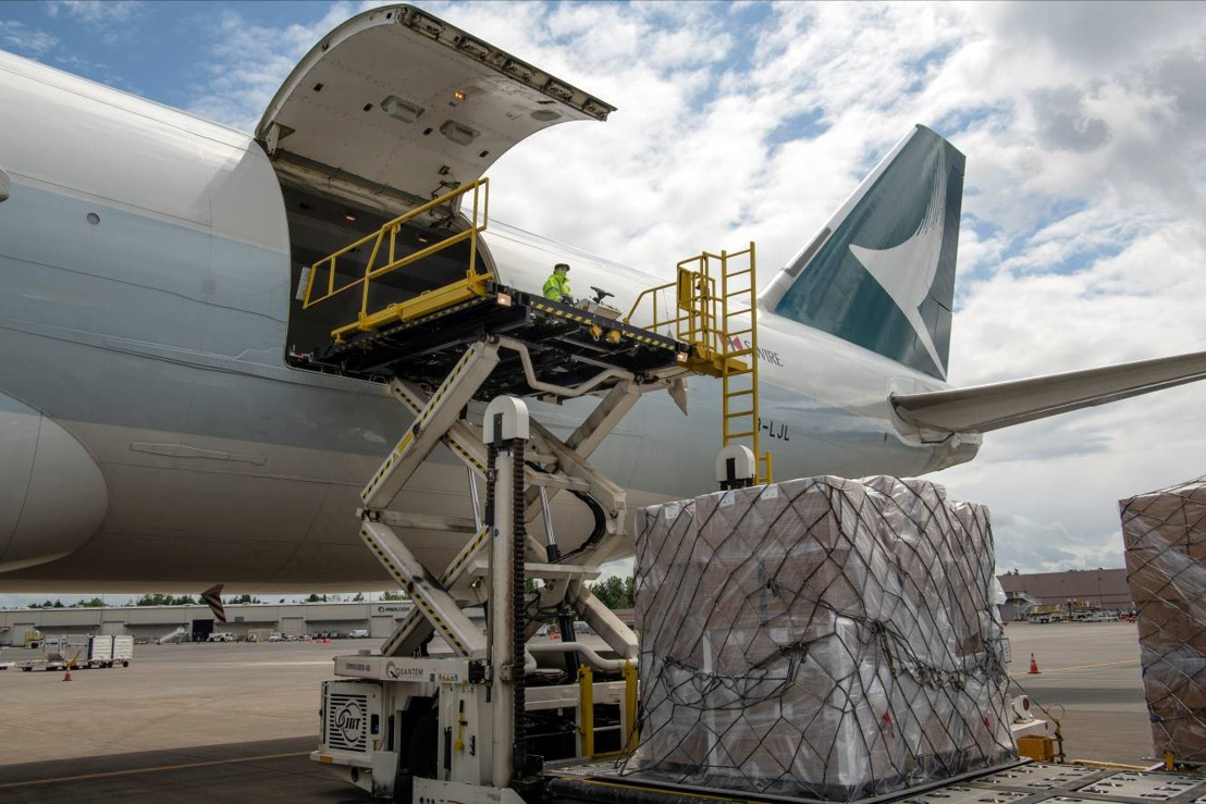 Cathay Pacific Cargo supports the Indian communities by transporting essential relief supplies from Portland