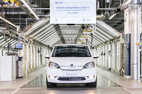 Start of production for the battery-powered ŠKODA CITIGOe iV