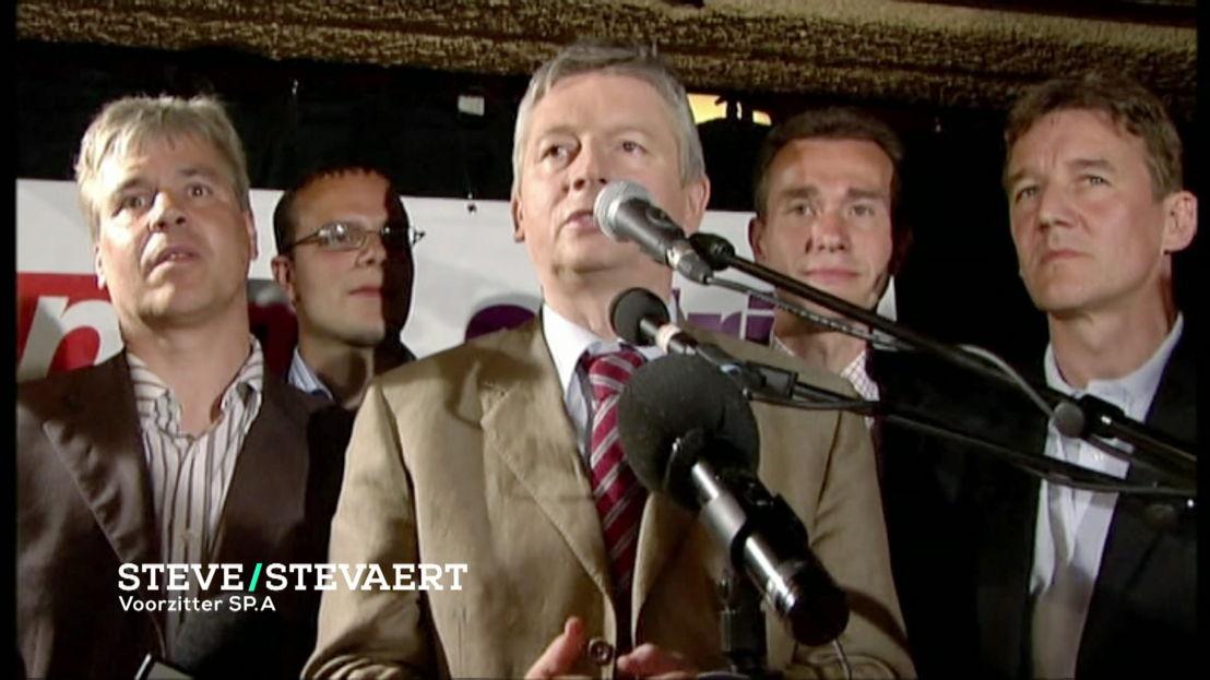 Bert Anciaux, Steve Stevaert, Patrick Janssen 2003 - (c) VRT