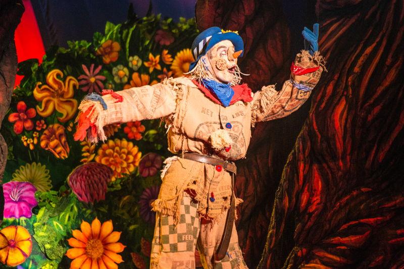 Morgan Reynolds as Scarecrow<br/>Photo credit: DANIEL A. SWALEC