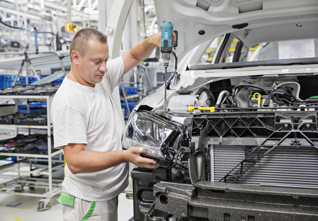The production of the revised ŠKODA FABIA in Mladá<br/>Boleslav plant in the Czech Republic.