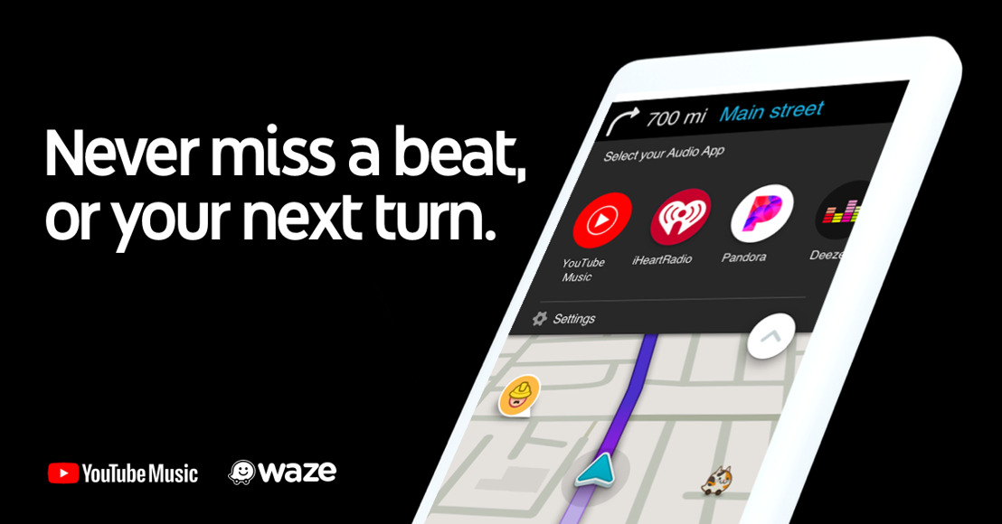 Waze integra a YouTube Music como nuevo reproductor de audio mientras conduces