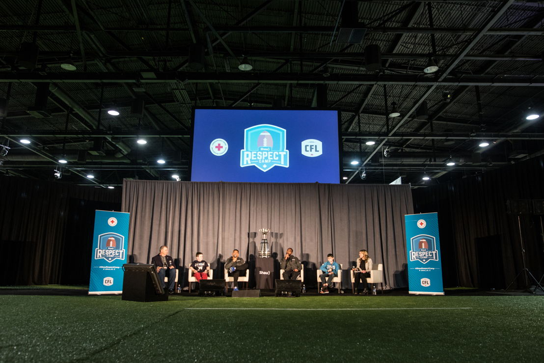 The Shaw Respect Camp at Mark's CFL Week. Photo credit: CFL.ca/Reid Valmestad