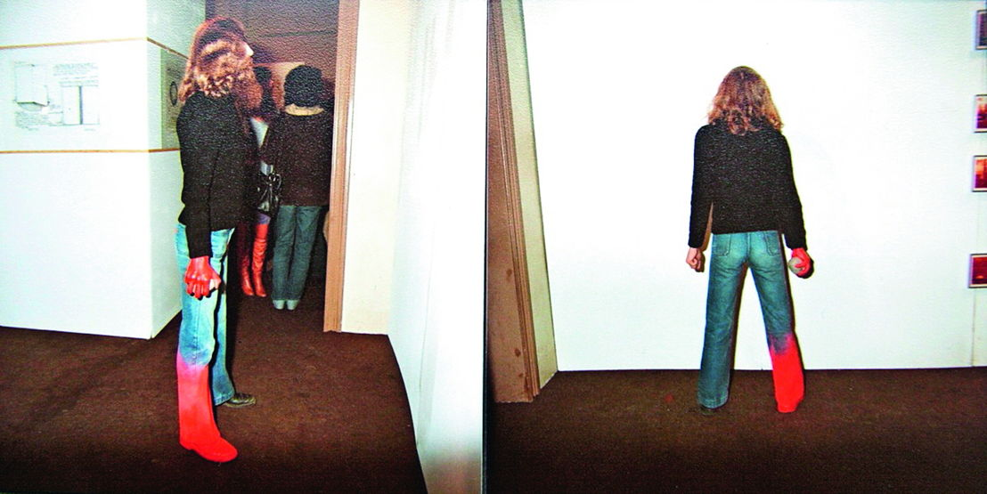 Performance Art Festival, 1978, openingsperformance Paul Gees. Foto's collectie Paul Gees
