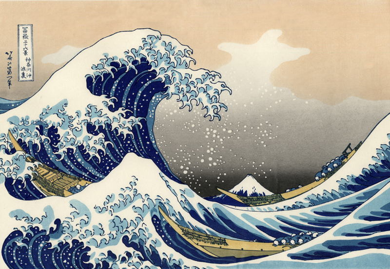 The Great Wave by Hokusai