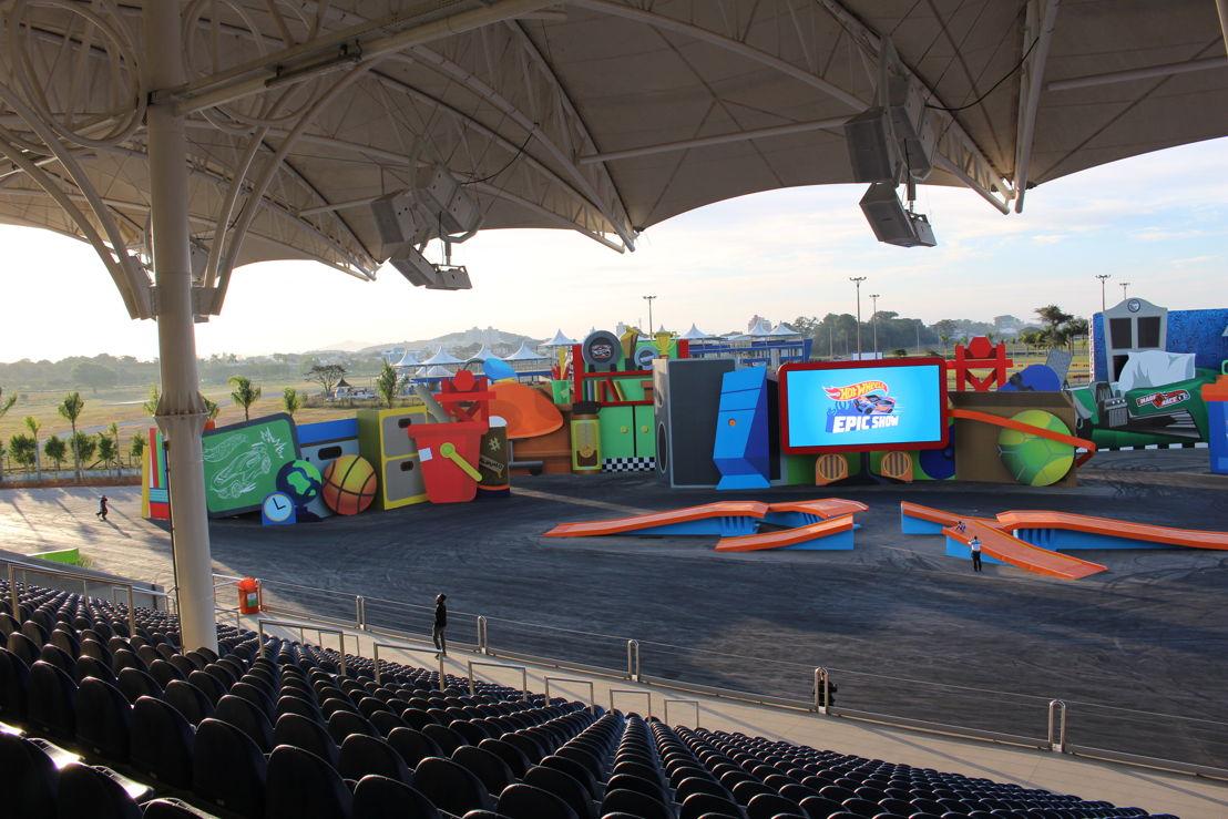 La arena donde se realiza el Hot Wheels Epic Show incorpora altavoces Bose LT, amplificadores PowerMatch y procesadores de audio ControlSpace.