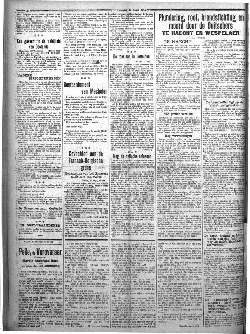 Vooruit du 26 août 1914