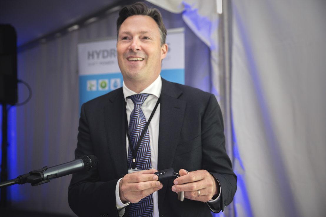 """David Willems, directeur marketing Toyota Belgique: """"Un premier client, c'est comme un premier amour, on ne l'oublie jamais. Je ne vais jamais oublier Hydrogenics."""""""
