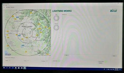 Biral BTD-200's map interface