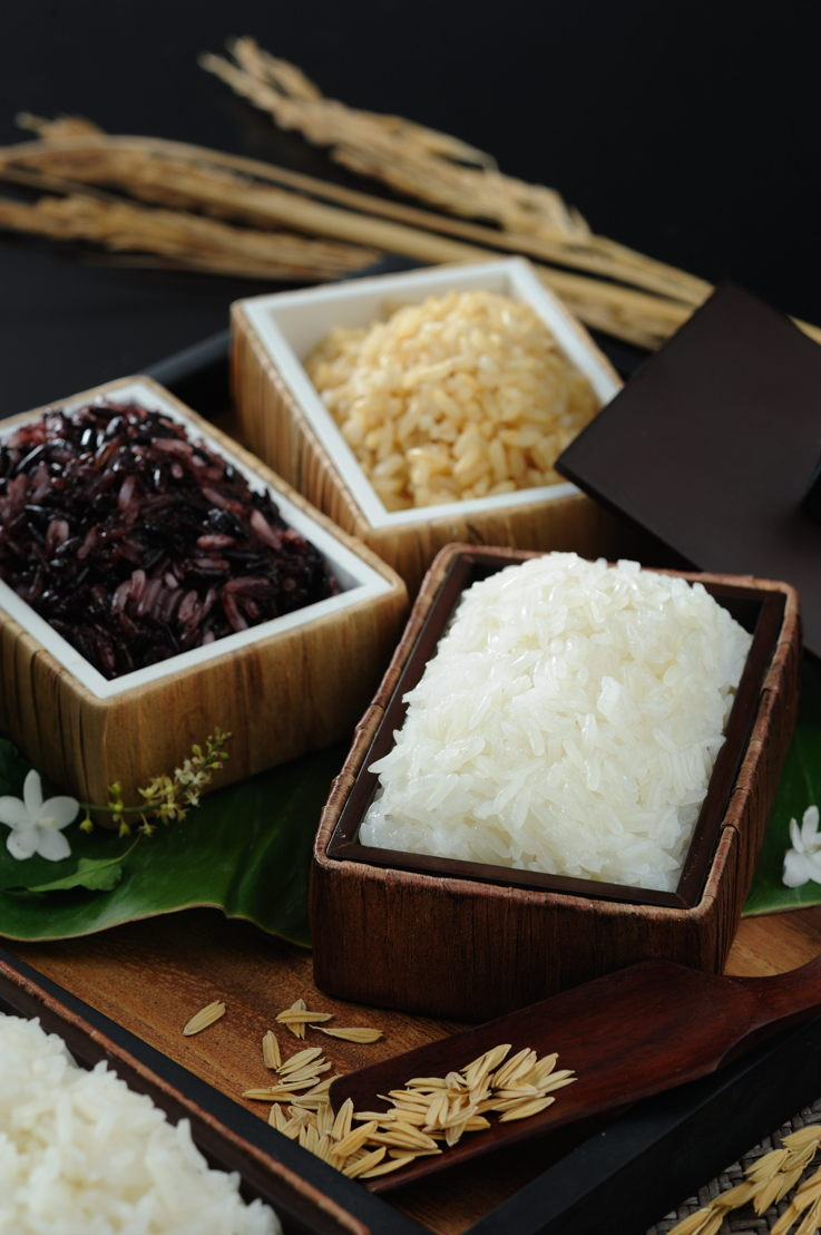 Different cain of rice