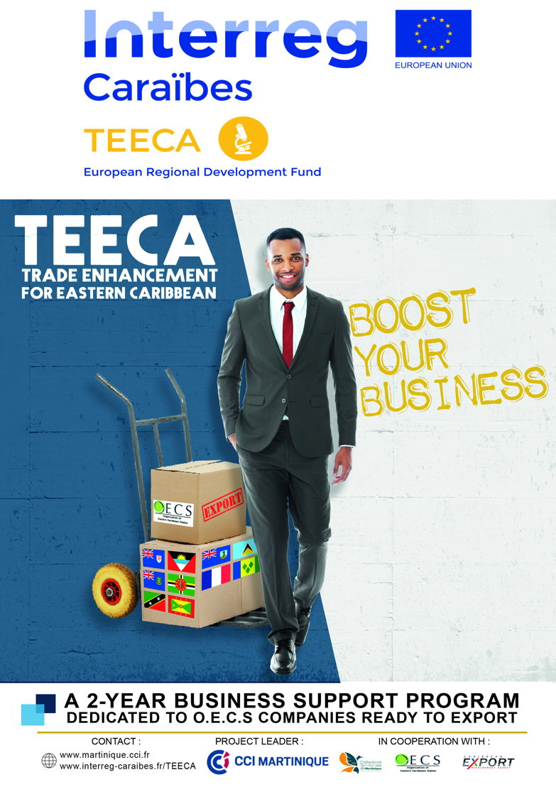 Poster of the TEECA Project - Chamber of Commerce of Martinique