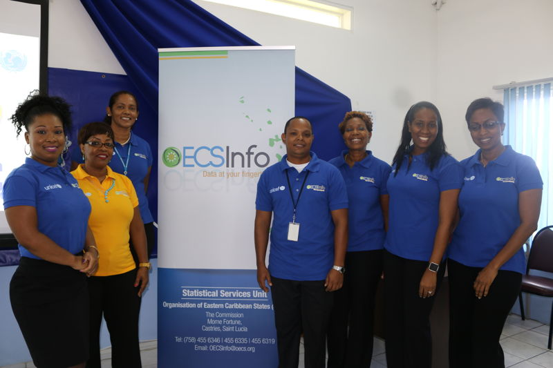 Members of the OECS Statistical Services Unit.