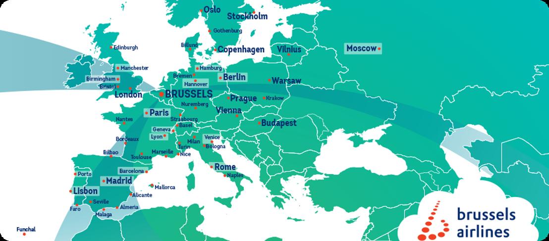 Brussels Airlines accueille l'horaire d'hiver avec dix nouvelles destinations