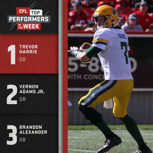 CFL TOP PERFORMERS – MARK'S LABOUR DAY WEEKEND