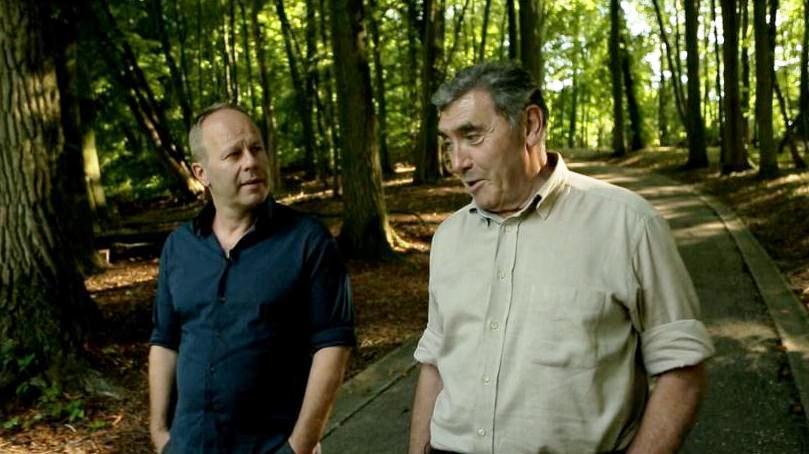 Ben Crabbé en Eddy Merckx in Karakters - (c) VRT - deMENSEN