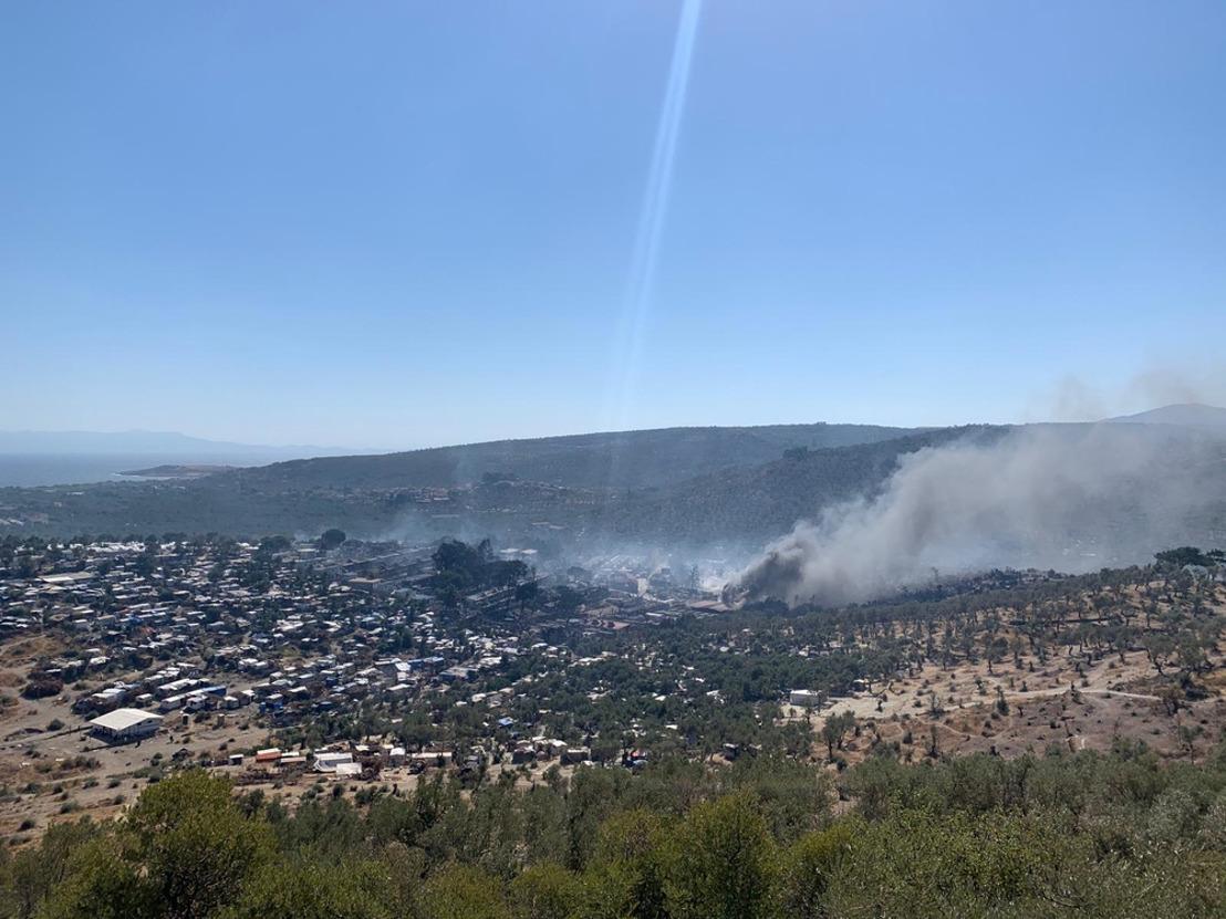 Actualización sobre el incendio en Moria